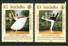 Seychelles 1986 Visit Of Ballet Du Louvre Company Set MNH (SG 636-637) - Seychelles (1976-...)