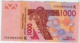 Sénégal Banque Centrale Afrique De L'Ouest West African 1000 Francs 2003 P715K - Senegal