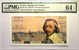 France 10 NF 1962 P142 Graded 64EPQ By PMG (Choice Uncirculated) - 1959-1966 ''Nouveaux Francs''