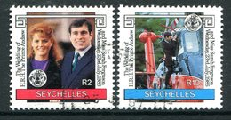 Seychelles 1986 Royal Wedding Set Used (SG 651-652) - Seychelles (1976-...)