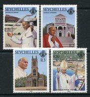 Seychelles 1986 Visit Of Pope John Paul II Set MNH (SG 654-657) - Seychelles (1976-...)