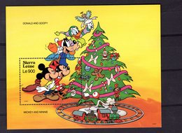 628667734 SIERRA LEONE 1992 ** MNH SCOTT 1567 DISNEY MICKEY AND MINNIE CHRISTMAS - Sierra Leone (1961-...)