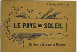 Alpes Maritimes 06 France Album De A. KARL, Carte Gravures Texte Publicités 1896 Nice Monaco Menton - Dépliants Touristiques