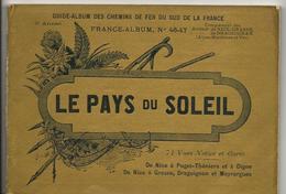 Alpes Maritimes 06 Et VAR France Album De A. KARL, Carte Gravures Texte Publicités 1896 Nice Draguignan - Dépliants Touristiques