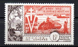 Col10 / Comores Archipel PA : N° 4   Neuf X MH , Cote : 40,00 € - Poste Aérienne