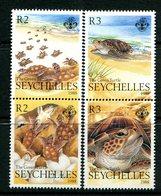 Seychelles 1988 The Green Turtle Set MNH (SG 687-690) - Seychelles (1976-...)