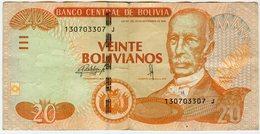 Bolivie Bolivia 20 Bolivianos 1986 ( 2015 ) Serie J - Bolivie