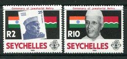 Seychelles 1989 Birth Centenary Of Jawaharlal Nehru - Indian Statesman Set MNH (SG 724-725) - Seychelles (1976-...)