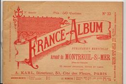 Pas De Calais 62 France Album De A. KARL, Carte Gravures Texte Publicités 1895 - Dépliants Touristiques