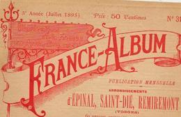 Vosges 88 France Album De A. KARL, Carte Gravures Texte Publicités 1895 - Dépliants Touristiques