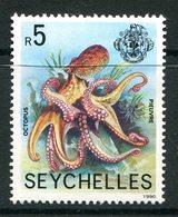 Seychelles 1989-91 Wildlife - 1990 Imprint Date - 5r Octopus MNH (SG 738) - Seychelles (1976-...)