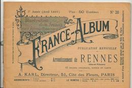 Ile Et Vilaine France Album De A. KARL, Carte Gravures Texte Publicités 1895 - Dépliants Touristiques