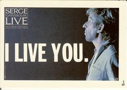 "CP De SERGE GAINSBOURG  "" LIVE - I LIVE YOU  "". - Cantanti E Musicisti"