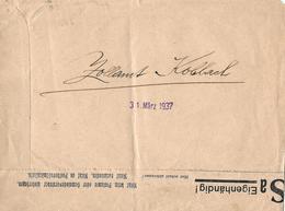 1937 Zollamt Koblach Nach Höchst Vorarlberg - 1918-1945 1. Republik