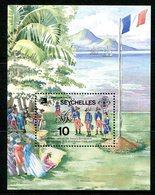Seychelles 1989 Bicentenary Of French Revolution MS MNH (SG MS762) - Seychelles (1976-...)