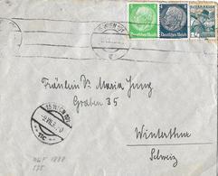 1938 Brief Wien Nach Winterthur  ►mit Vignette & Interessanter Frankatur◄ - Briefe U. Dokumente