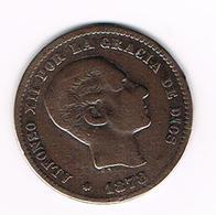 =&  SPANJE  5 CENTIMOS  1878 - Monnaies Provinciales