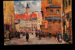 Poland Warszawa Stari Miasto T Cieslewski Painting - Polen