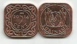 Surinam 5 Cent 2014. High Grade - Surinam 1975 - ...