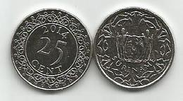 Surinam  25 Cent 2014. High Grade - Surinam 1975 - ...
