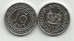 Surinam  10 Cent 2014. High Grade - Surinam 1975 - ...