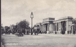 United Kingdom PPC Hyde Park Corner, London No. 849 Old Cars & Busses O.F. London No. E 48097 Postally Used (2 Scans) - London Suburbs