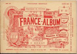 Finistère France Album De A. KARL, Carte Gravures Texte Publicités 1894 - Dépliants Touristiques