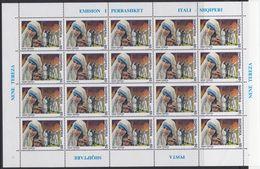 Albania 2749/50 - Death Of Mother Teresa 1998 SHEETLET - MNH - Mother Teresa