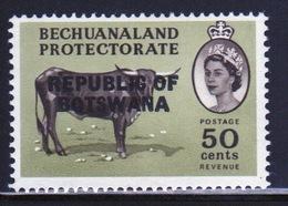 Botswana 50 Cent 1966 Single Bird Stamp Of Bechuanaland Overprinted 'Republic Of Botswana' - Botswana (1966-...)