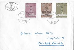 1972 Ersttag Brief Graz Nach Zürich - FDC