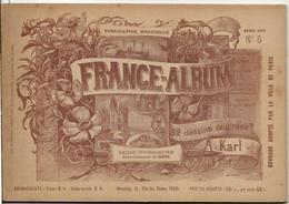 Seine Infèrieure France Album De A. KARL, Carte Gravures Texte Publicités 1893 - Dépliants Touristiques