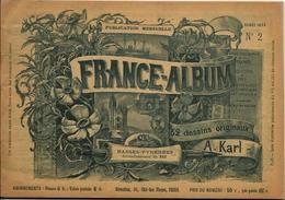 Basses Pyrénées France Album De A. KARL, Carte Gravures Texte Publicités 1893 - Dépliants Touristiques