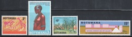 Botswana 1968 Set Of Stamps To Celebrate The Opening Of The National Museum. - Botswana (1966-...)