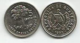 Guatemala 5 Centavos  1992. High Grade - Guatemala