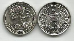Guatemala 5 Centavos  1994. High Grade - Guatemala