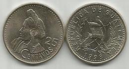 Guatemala 25 Centavos 1998. High Grade - Guatemala