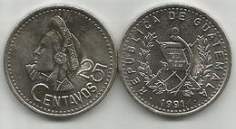 Guatemala 25 Centavos 1991. High Grade - Guatemala