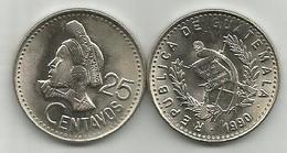 Guatemala 25 Centavos 1990. High Grade - Guatemala