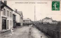 CHATEAUNEUF LA FORET AVENUE DE LA POSTE 1912 TBE - Chateauneuf La Foret