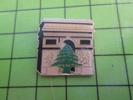 918C Pin's Pins / Rare Et De Belle Qualité / THEME AUTRES / ARC DE TRIOMPHE ET CEDRE DU LIBAN - Pin's