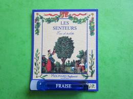 MOLINARD - LES SENTEURS - FRAISE -  (collector - Ne Pas Utiliser) Date Des Années 1990 - Echantillon Tube Sur Carte - Perfume Samples (testers)
