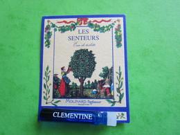 MOLINARD - LES SENTEURS - CLEMENTINE -  (collector - Ne Pas Utiliser) Date Des Années 1990 - Echantillon Tube Sur Carte - Perfume Samples (testers)