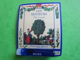 MOLINARD - LES SENTEURS - MURE -  (collector - Ne Pas Utiliser) Date Des Années 1990 - Echantillon Tube Sur Carte - Perfume Samples (testers)