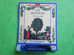 MOLINARD - LES SENTEURS - ORANGE CANNELLE -  (collector  Ne Pas Utiliser) Date Des Années 1990 - Echantillon Tube  Carte - Perfume Samples (testers)