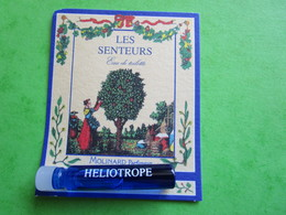 MOLINARD - LES SENTEURS - HELIOTROPE -  (collector  Ne Pas Utiliser) Date Des Années 1990 - Echantillon Tube SU  Carte - Perfume Samples (testers)