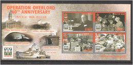 Isle Of Man 2004 Operation Overlord, Normandie, Churchill,  Mi  Bloc 50 MNH(**) - Man (Insel)
