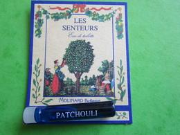 MOLINARD - LES SENTEURS - PATCHOULI -  (collector  Ne Pas Utiliser) Date Des Années 1990 - Echantillon TubE  Carte - Perfume Samples (testers)