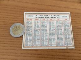 Calendrier 1945 «IMPRIMERIE A. JOSSIER - HAMON MORLAIX (29)» - Calendars