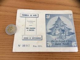 Calendrier 1951 «Pas Un Enfant D'Ivry Sans Noël/ TOMBOLA DE NOËL » - Calendars