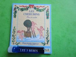 MOLINARD - LES CHERUBINS - LES 3 BEBES -  (collector  Ne Pas Utiliser) Date Des Années 1990 - Echantillon Tube  Carte - Perfume Samples (testers)